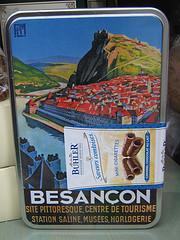 Stadt Besançon mit Doubs und Zitadelle