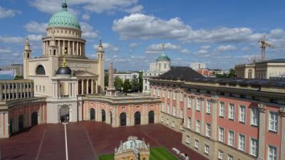 Potsdam 2017: Brandenburgischer Landtag, Fortuna-Portal, Nikolai-Kirche